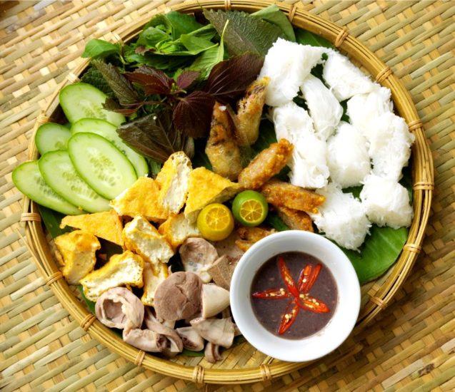 Bun Dau Mam Tom is the highlight of Hanoi's cuisine
