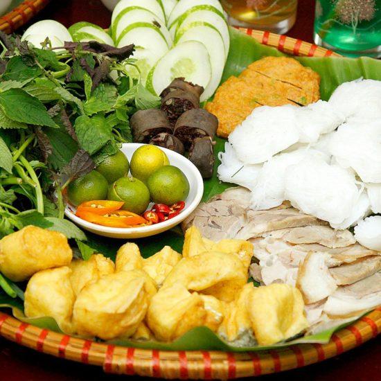 Let's travel Hanoi to enjoy Bun Dau Mam Tom