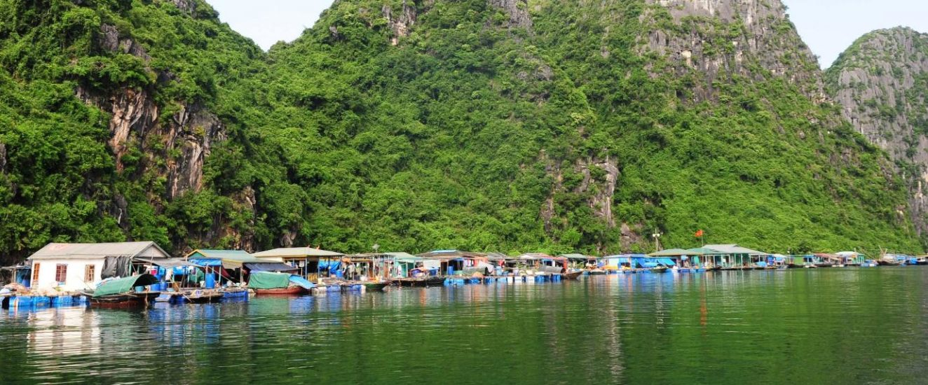 Floating villages in Halong