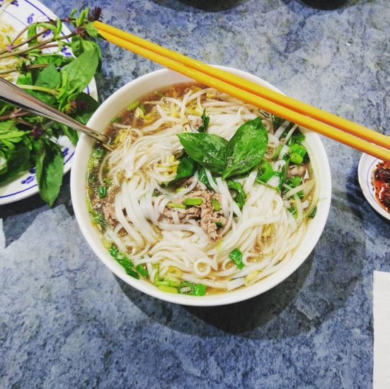 Pho- a good choice for breakfast in Hanoi