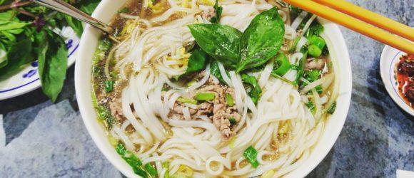 Pho- a good choice for breakfast in Hanoi