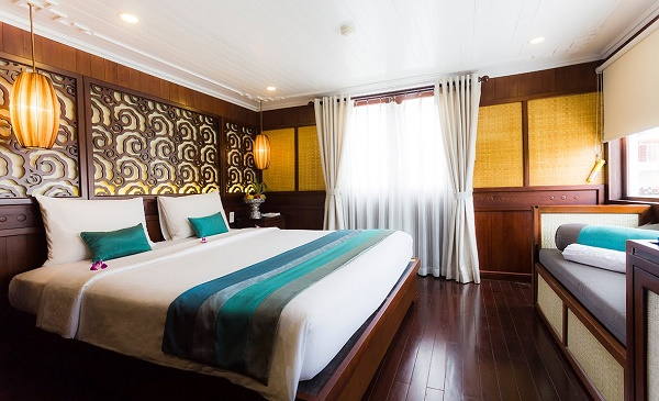 Luxury cabins on the Bhaya Ships