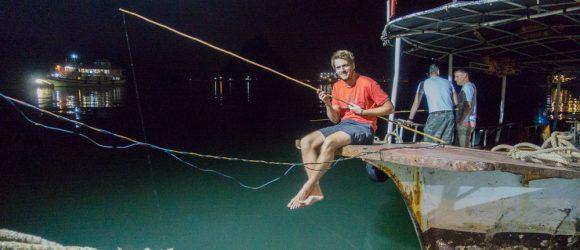Night squid fishing