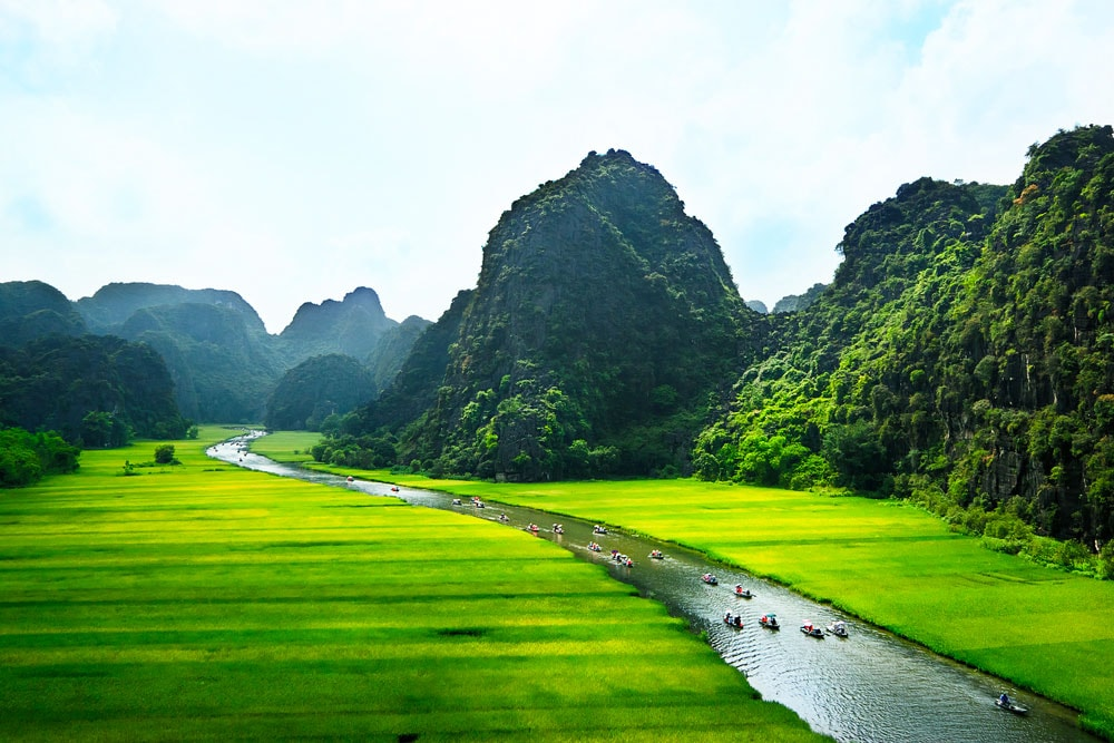 Unspoiled landscapes in Ninh Binh