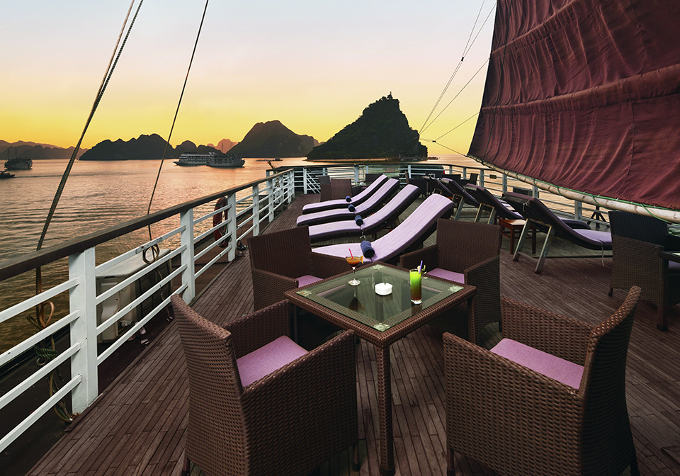 Apricot Cruise Halong Bay Sundeck