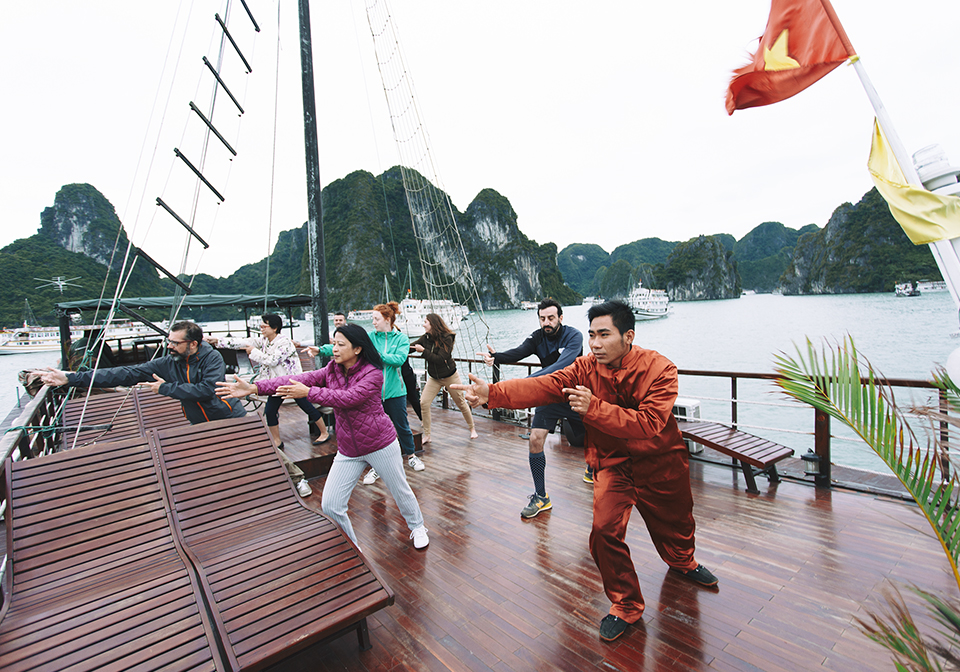 Halong Majestic Cruise Tai Chi 1