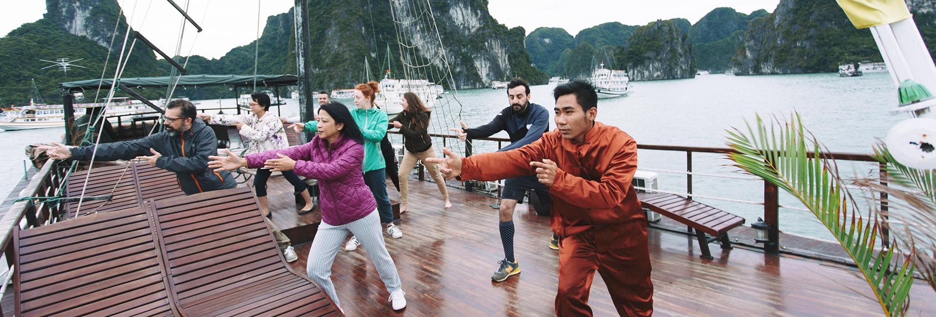 Halong Majestic Cruise Tai Chi 1
