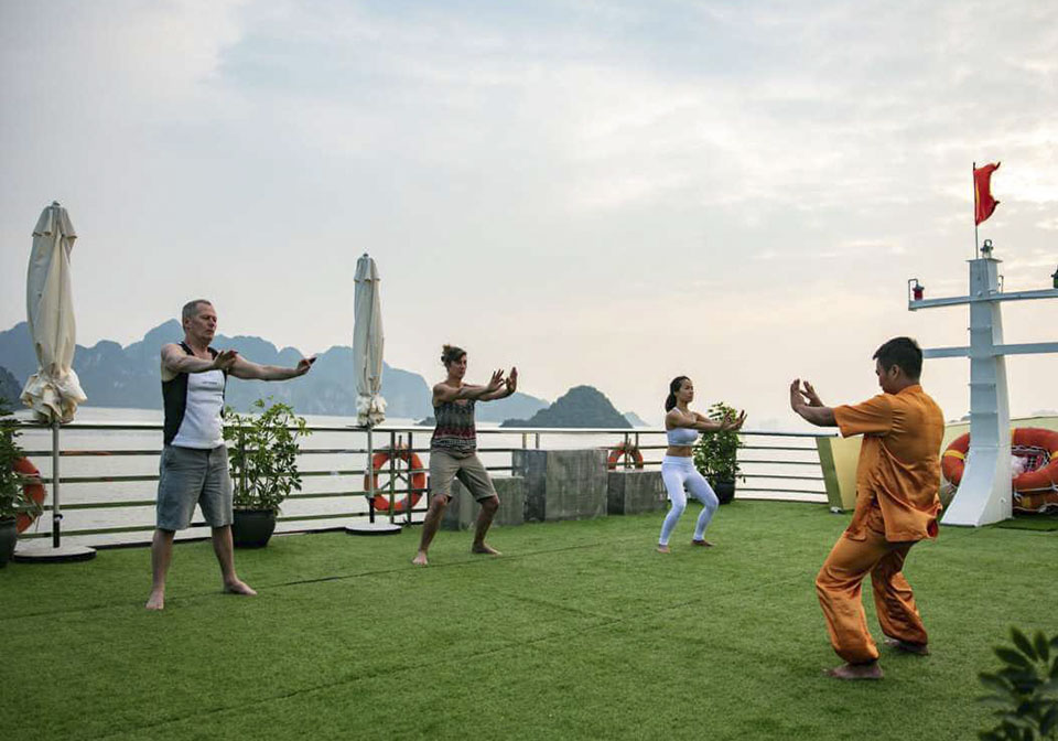 Maya-Cruise activity Taichi in Halong