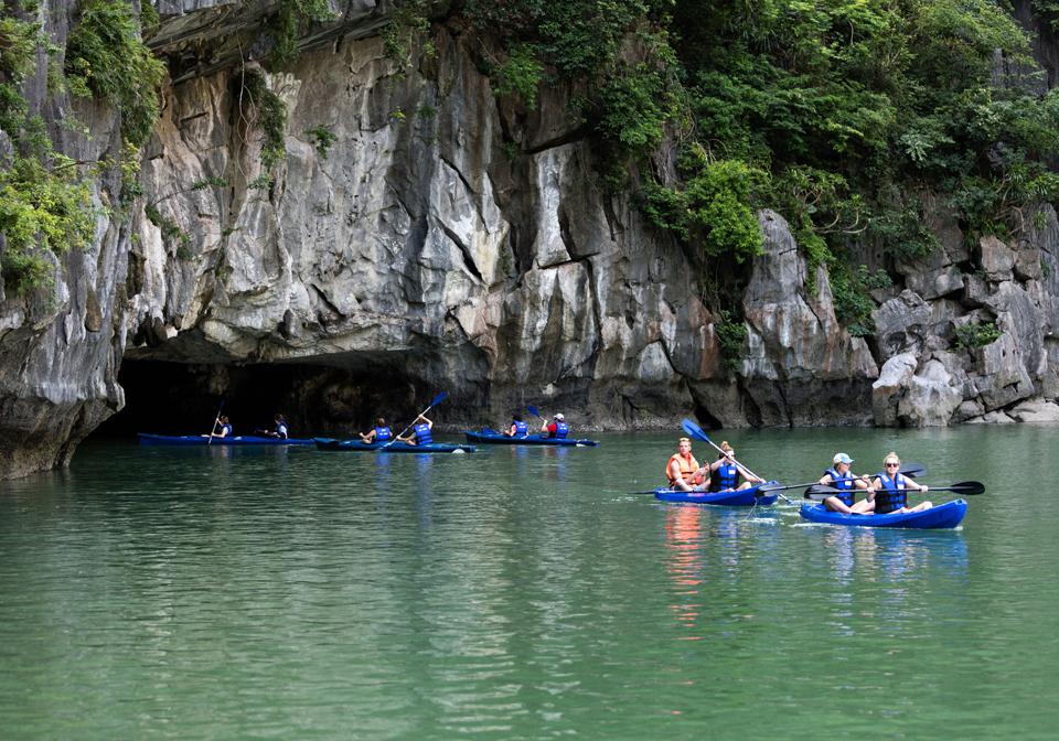 Pelican Halong Cruise kayaking